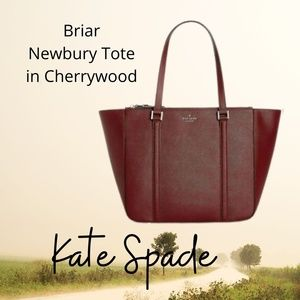 NWT Kate Spade Tote in Cherrywood leather